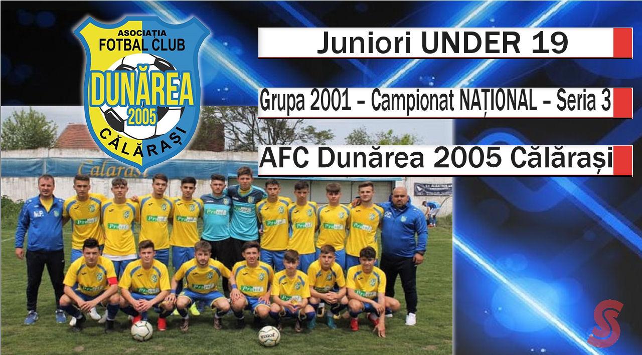 AFC Dunărea 2005 Călărași – Juniori U19 – Niciun meci pierdut pe teren propriu!