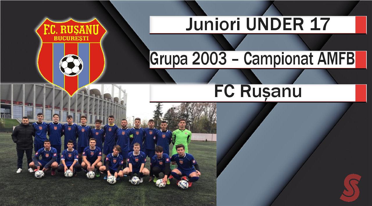 FC Rușanu – Juniori U17 – Cifre bune doar în deplasare!