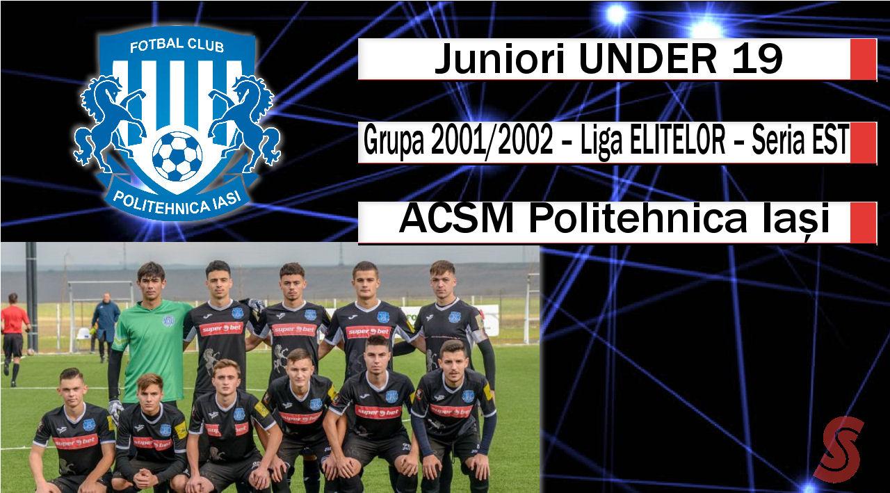 ACSM Politehnica Iași – Juniori U19 – O echipă care s-a menținut în ritmul competiției!