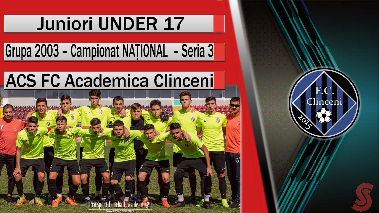 ACS FC Academica Clinceni – Juniori U17 – Mult potențial și un joc modest!