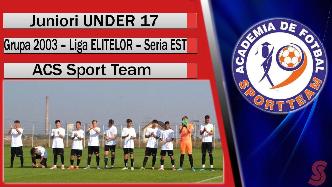 ACS Sport Team – Juniori U17 – Un parcurs ciudat!
