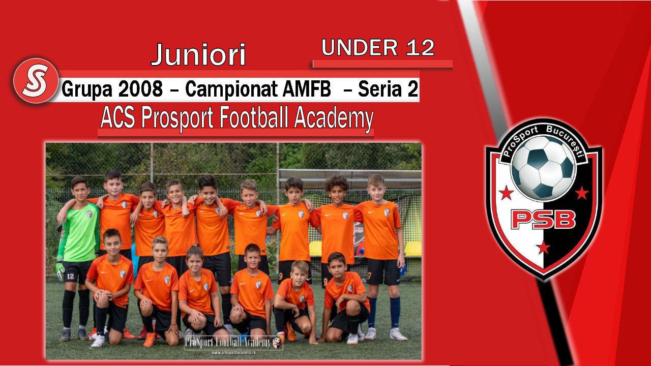 ACS Prosport Football Academy – Juniori U12 – O echipă dinamică cu suporteri minunați!