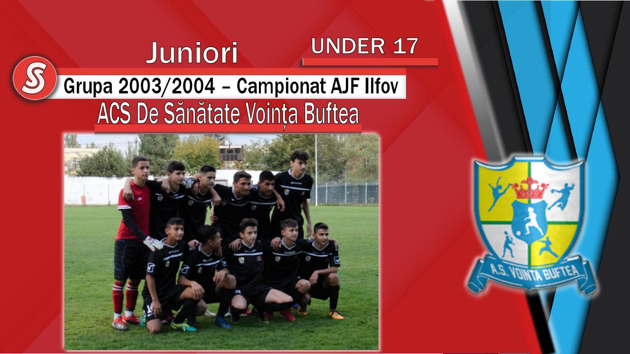 ACS De Sănătate Voința Buftea – Juniori U17 – O echipă care a confirmat!