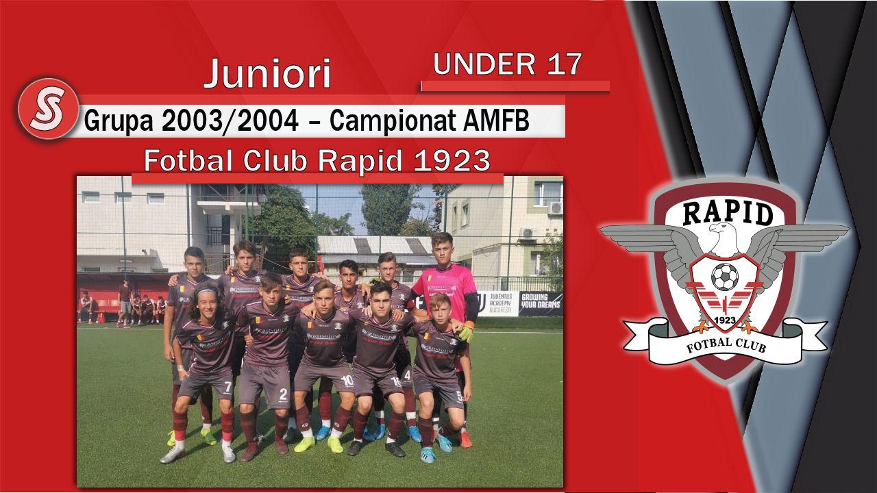 Fotbal Club Rapid 1923 – Juniori U17 – O echipă care și-a demonstrat calitatea!
