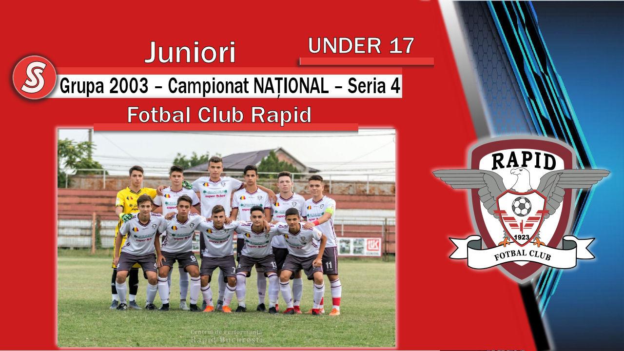 Fotbal Club Rapid – Juniori U17 – Un parcurs remarcabil și o echipă cu un potențial foarte bun!