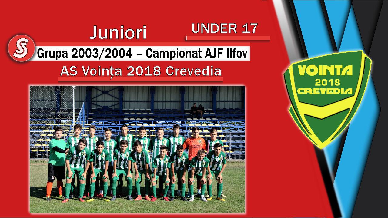 AS Voința 2018 Crevedia – Juniori U17 – Cea mai mare ASCENSIUNE din România la juniori U17!