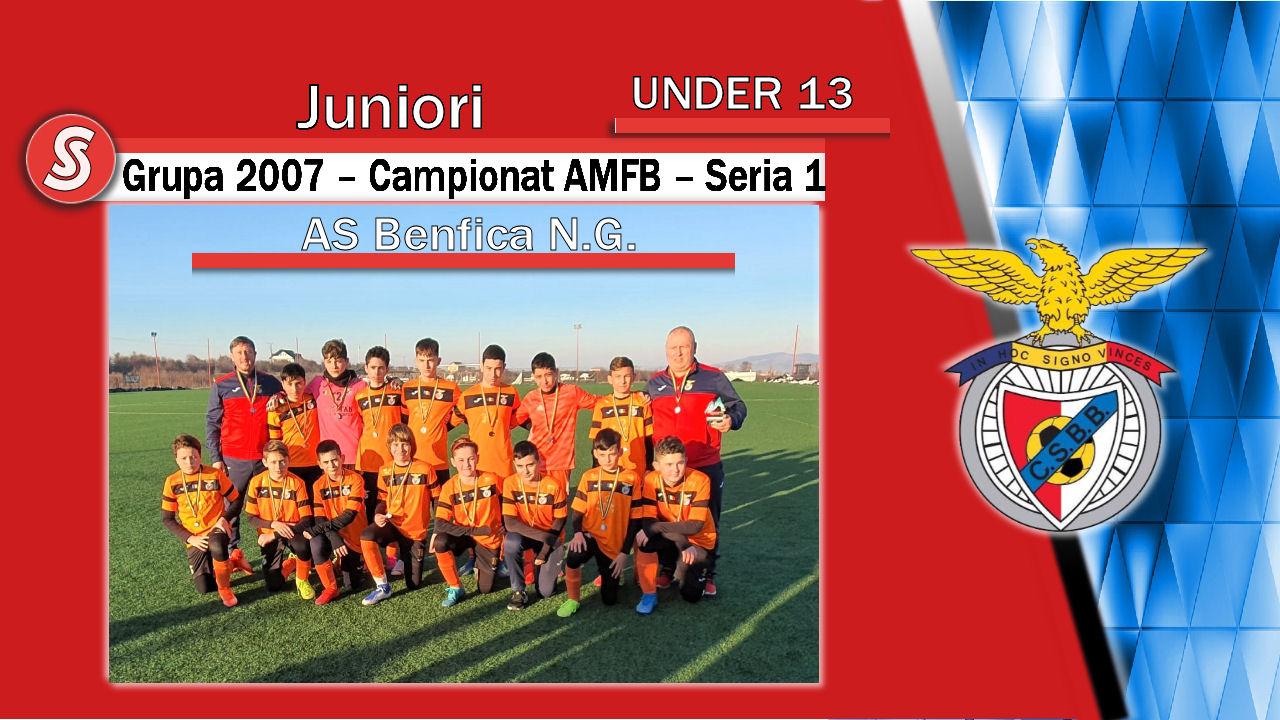 AS Benfica Noua Generație – Juniori U13 – O echipă cu potențial și jucători interesanți!
