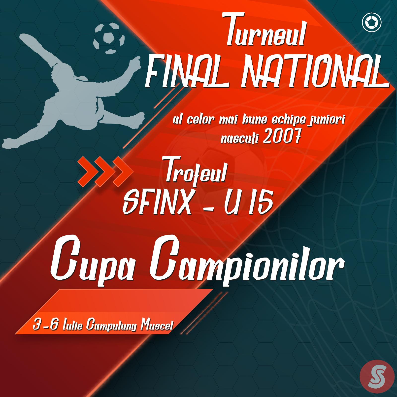 Program desfășurare meciuri Cupa Campionilor U15