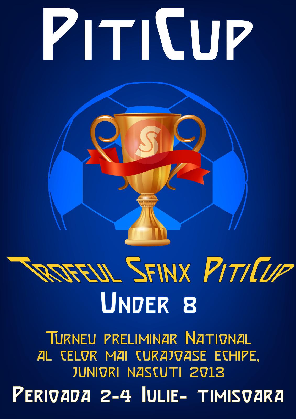 Program de desfășurare al competiției Trofeul Sfinx PitiCup U8  – Timișoara 2 – 4 iulie