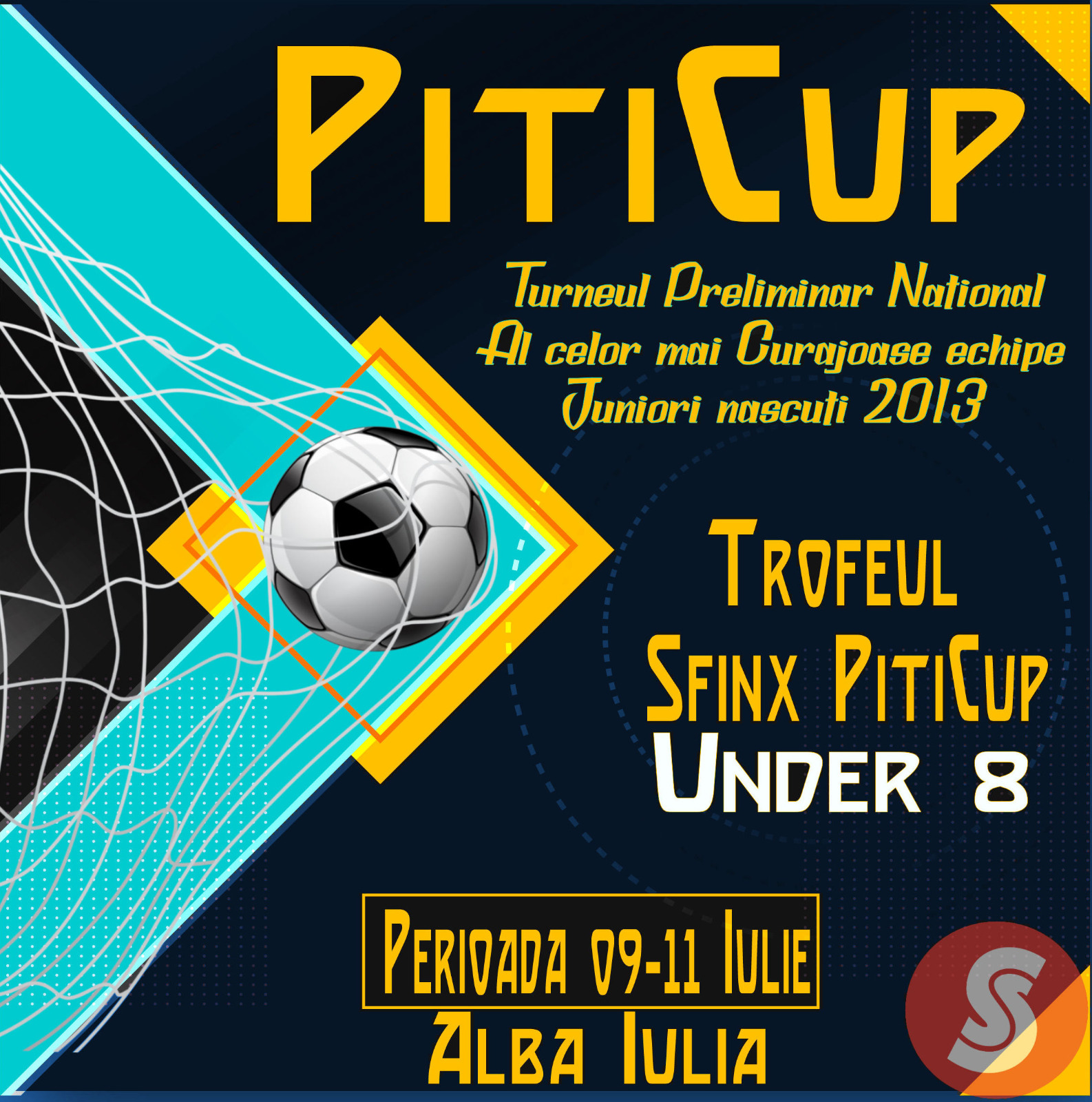 Program de desfășurare al competiției Trofeul Sfinx PitiCup U8 – Alba Iulia – 9 – 11 iulie